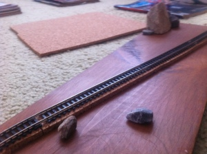 Laying track and cork